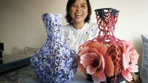 """超萌!大妈创新棉塑摆件,让棉花立起来变身精致""""花鸟"""""""