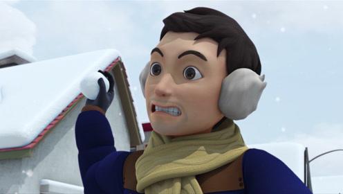 《咖宝车神》打雪仗打不过,只好叫我的朋友来帮忙