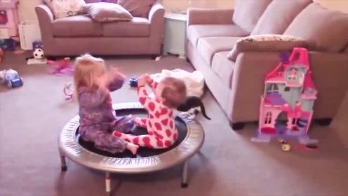 姐姐妹妹嗨起来,音乐一响,小宝宝就受不了了