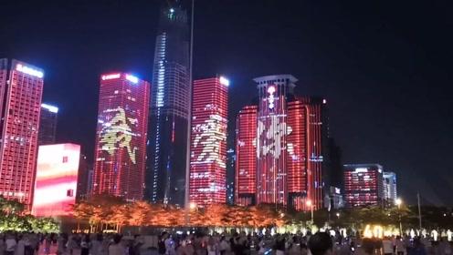 这是昨夜的深圳!对岸的香港也能感受祖国的强大