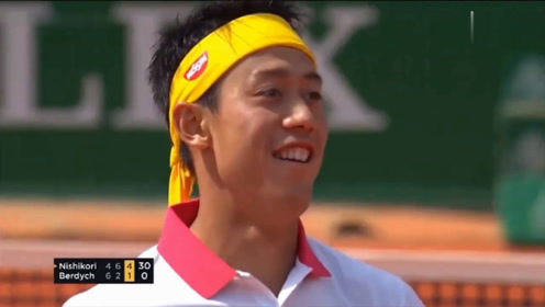 """网球亚洲""""一哥"""" 锦织圭的赛事经典击球现场集锦"""