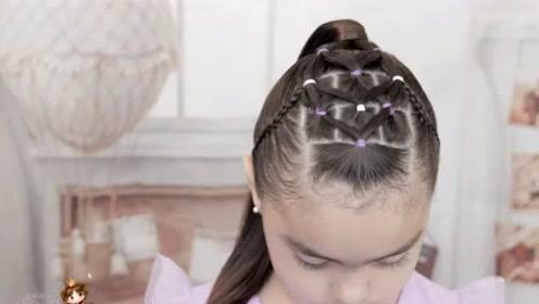 开学想让女儿成为全校最美女生,那就这样给她扎头发吧