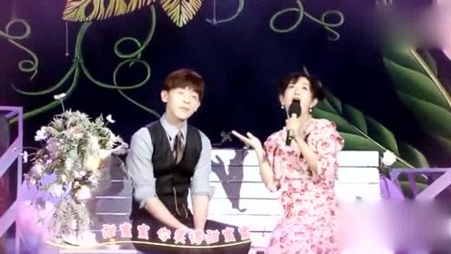 邓伦和谢娜合唱一首《甜蜜蜜》好可爱啊