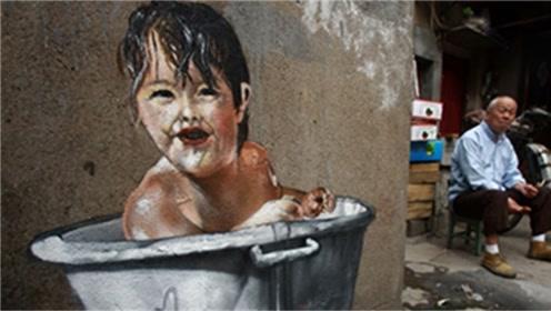 上海一废弃村落,经涂鸦艺术家一过手,竟变成网红拍照圣地