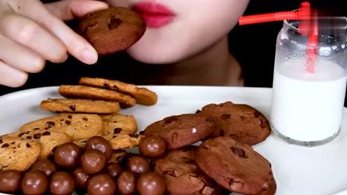 巧克力曲奇、朱古力吃播,哪有巧克力哪就有我,我看了=我吃到了