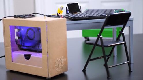 国外大神DIY世界最小电竞主机,玩游戏超流畅,就是太费眼