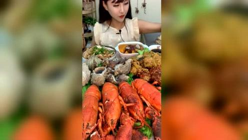 美女直播吃大海螺,看完后一般男人不敢追她
