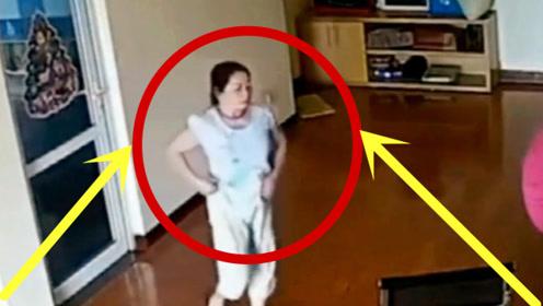 女保姆从卧室出来后,走路姿势越看越怪,监控拍下恶心一幕!