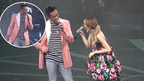 古天乐助阵容祖儿演唱会 载歌载舞嗨爆全场