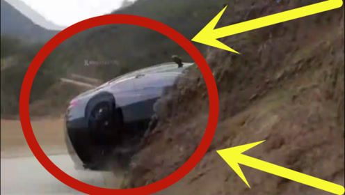 宝马赛车山路秀绝技,3秒后瞬间车毁人亡,太惨了!