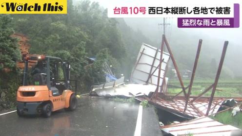 """台风""""罗莎""""横扫日本 强风暴雨致多地损失惨重人员伤亡"""