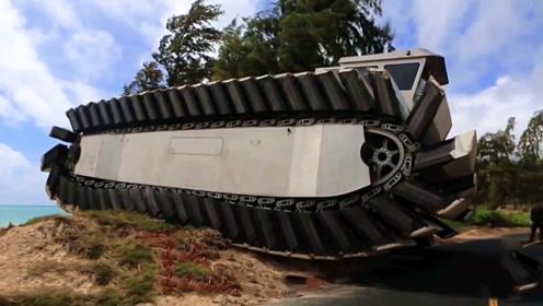 美国研发最霸气的坦克,水陆两栖不说,还能翻越3米高墙!