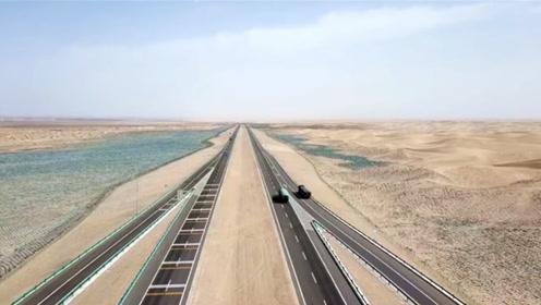"""中国在极端恶劣的荒漠里,修筑起""""沙漠巨龙"""",总投资370亿元"""