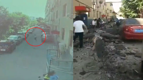 监拍:忻州某小区墙体垮塌 女子神反应侥幸逃生