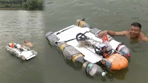 亲见多起溺水事故,大叔拆风扇电机造溺水救生器