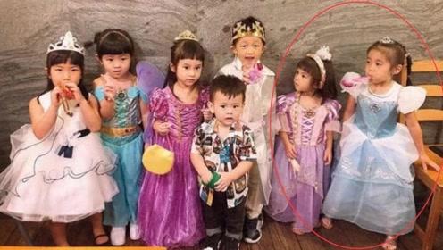 贾静雯带女儿参加生日派对 咘咘波妞穿公主裙盛装打扮