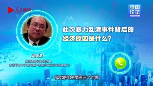 香港经济学者周文港:乱港有深层次经济原因