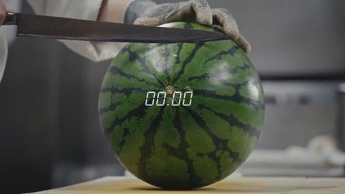 全球手速最快的3个人,11秒切完一大只西瓜,看得我眼花缭乱!