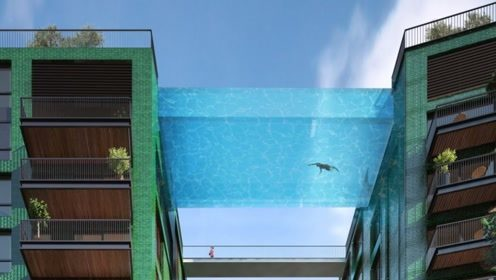 世界上最惊险的游泳池:建在40层大楼中间,离地150米高!