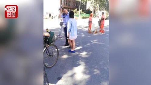 网曝北京一女司机用防狼喷雾袭警 目击者:违停不服管 胆太大了