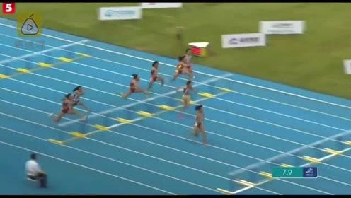 将原纪录提高0.23秒! 16岁湖南少女100米拦破纪录夺冠