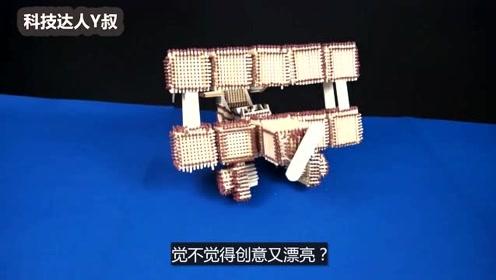 """用一根根火柴做的""""飞机""""模型,看着创意又漂亮!"""