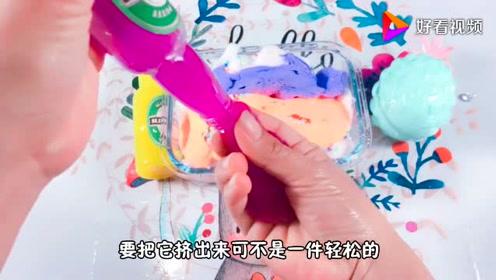 用奶嘴气球、啤酒沙皮胶,和解压球来做混泥,无硼砂,结果好伤心