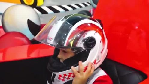 萌娃们在儿童乐园里玩的可开心!萌娃:我长大想做赛车手!