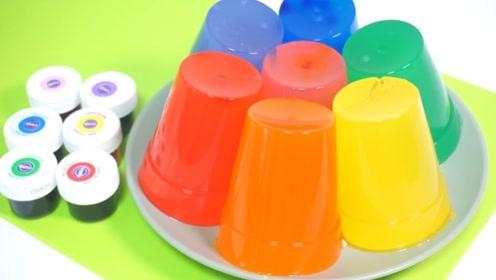 """用过的""""纸杯""""不要扔,一分钟学会做七彩果冻,犒劳开学的宝贝!"""