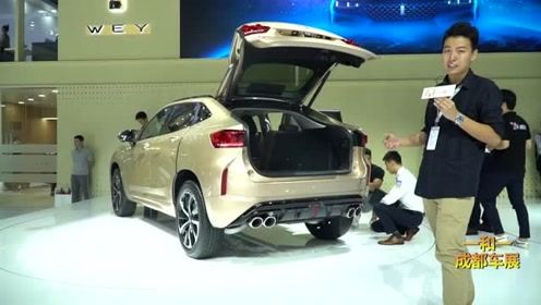 车展实拍:WEY VV7 GT轿跑SUV,大溜背造型最大胆!