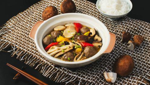 鲜掉眉毛的蚝油杂菇牛肉丸煲,营养丰富又美味!