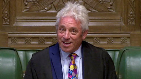 """英下议院议长宣布要辞职 每当场面失控就听到他喊""""order"""""""