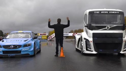 这辆卡车要和赛车比速度?是盲目自信还是真有实力?看完佩服了