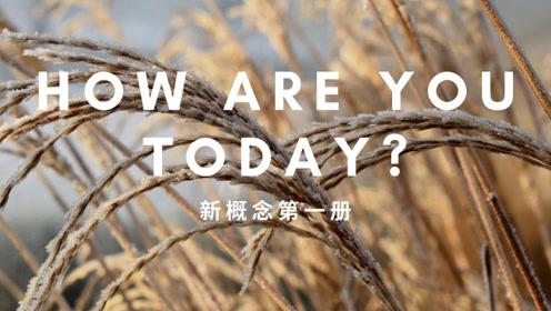 还是从新概念学吧!新概念第一册第九章,今天好吗!