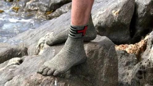 """最""""坚硬""""的袜子,比钢铁要硬上15倍,能直接当成鞋子穿出门"""