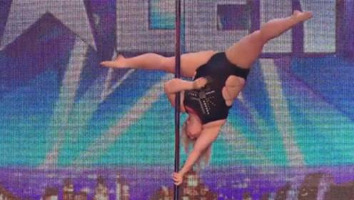 达人秀现场惊现钢管女郎,体重达到338斤,观众:替钢管捏把汗
