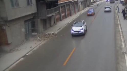 这些司机真幸运,与灾难擦肩而过,不幸中的万幸