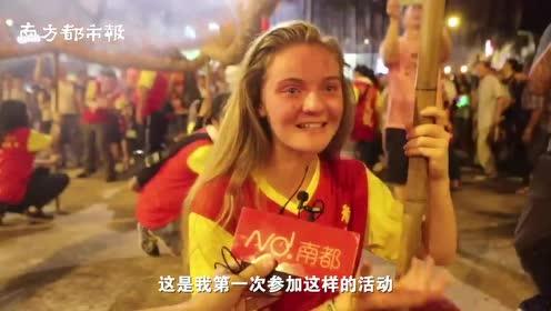 30米长火龙庆中秋,香港市民心声:希望香港的不开心都烟消云散