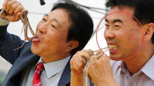 日本人的口味有多重?生龙活虎的小鱿鱼直接生吃,看完怀疑眼睛