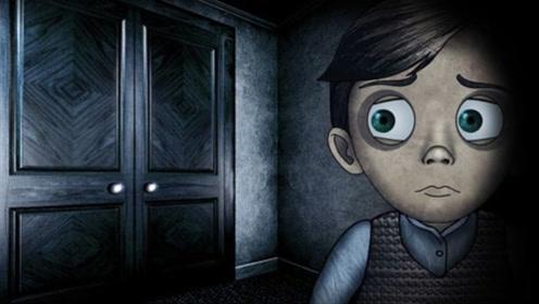 男孩的房间里,门后隐藏着一个怪物,一到晚上就乱叫