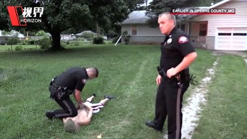 实拍长跑健将见到美国警察撒腿就跑 本来没犯罪结果被控拒捕