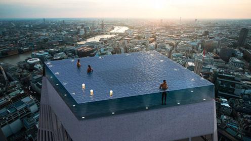 """""""空中的大海"""",摩天楼顶惊现游泳池,让你感觉在天际畅游"""