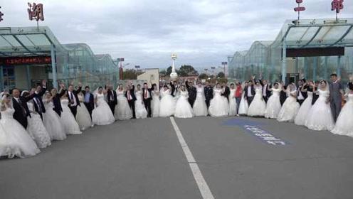 让圣湖见证爱情!青海湖边中秋办起集体婚礼,传递环保理念