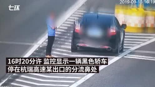 司机在高速分流鼻上聊天:以为是斑马线