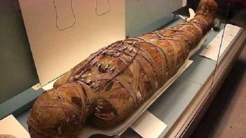 专家发现2500年木乃伊,听见肚子有声响,剖开后发现不简单