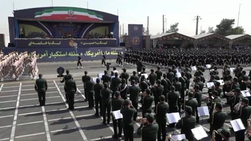 伊朗德黑兰举行阅兵 鲁哈尼:不允许任何人侵犯伊朗领土