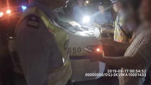 男子醉驾连环逼问交警:为啥要卖酒?勾引我们犯罪来被你们抓