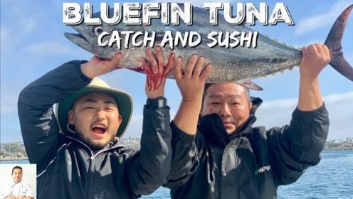 金枪鱼眼在日本是美味,鱼眼堪比碗的大小,日本男人的最爱