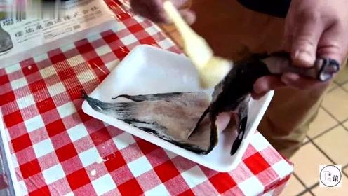 实拍日本冲绳岛海鲜,这海鱼炸得太有特色了,光看着就有食欲