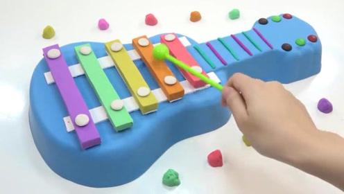 教你用彩色粘土做一个五彩的编钟,敲起来声音真清脆!